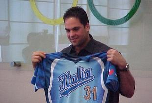 Mike Piazza catcher dei New York Mets